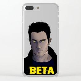 Derek Hale-Beta Clear iPhone Case