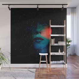 Cosmic Face in the Infinite Universe Wall Mural