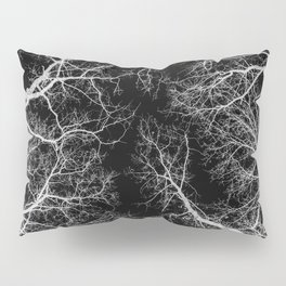Black and white tree photography - Watercolor series #10 Pillow Sham