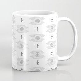 Pastel gray white abstract geometrical tribal pattern Coffee Mug