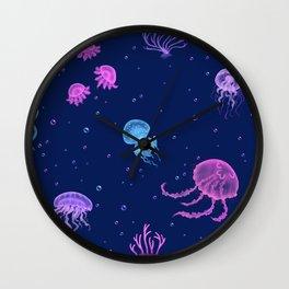 Jellyfish Bubble Sea Wall Clock