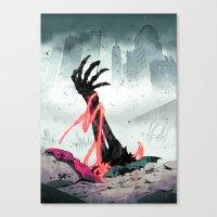 teen titans Canvas Prints featuring Teen Titans - Lurking Evil  by NOTCHCOMICS