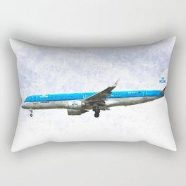 KlM Embraer 190 Rectangular Pillow