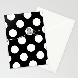 Out on a Limb - Polka Dot Owl Moon Stationery Cards