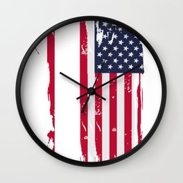 Patriotic Go Kart Racing Product, Go Kart Drivers Gift Tee Wall Clock