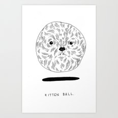 Kitten Ball Art Print
