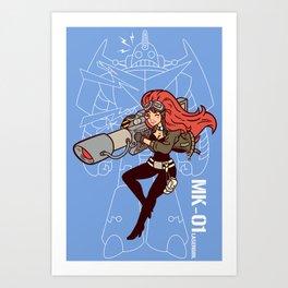 Köpke's Lasergirl - Enter the Robot! Art Print