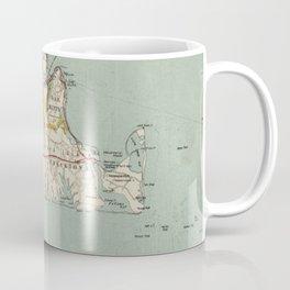 Vintage Map of Martha's Vineyard (1917) Coffee Mug