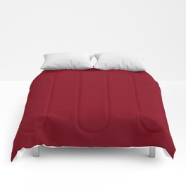 Solid Bright Firebrick Red Color Comforters