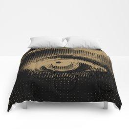 Lina eye 01 Black & Gold Comforters
