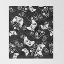 Video Game White on Black by ts55