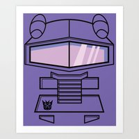 transformers Art Prints featuring Transformers - Shockwave by CaptainLaserBeam