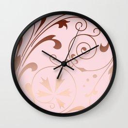 Rose Quartz Gold Komingo Wall Clock