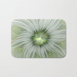 Olive Fantasy Flower Bath Mat