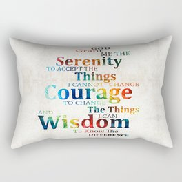 Colorful Serenity Prayer by Sharon Cummings Rectangular Pillow