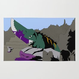Gamera vs. Guiron Rug