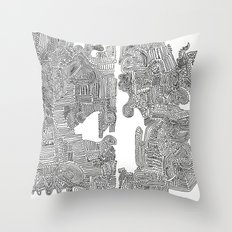 Squigglies Throw Pillow