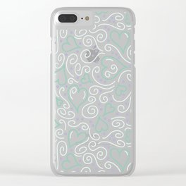 Whimsical Hearts Clear iPhone Case