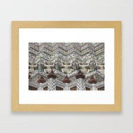 Details of Wat Arun (Temple of Dawn) in Bangkok Framed Art Print