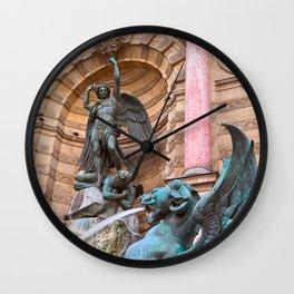 Saint-Michel Fountain Wall Clock