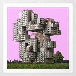 Cute Brutalism Art Print