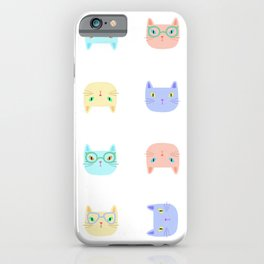 Cats Wearing Glasses iPhone Case