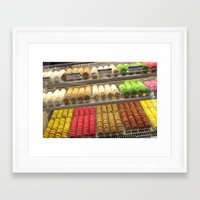 macaroon Framed Art Prints featuring Macaroon world  by Annalise141