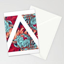 Triangle & Chrysanthemum Stationery Cards