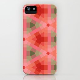 Retro Orange Peach Green Geometric iPhone Case