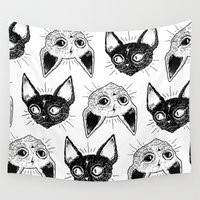 kittens Wall Tapestries featuring Kittens  by lOll3