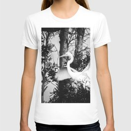 Great Egret In The Trees T-shirt