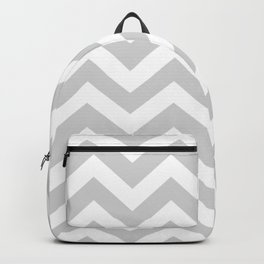 Light gray - grey color - Zigzag Chevron Pattern Backpack