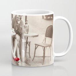 New Red Shoes Vintage Paris Photo Coffee Mug