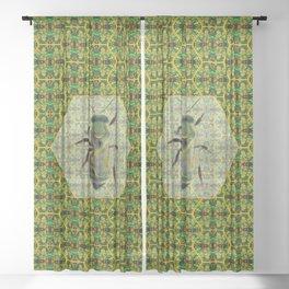 BEE GREEN Sheer Curtain