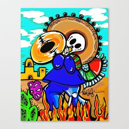 Day of the dead - MARIACHI Canvas Print