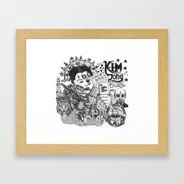 kim jong badoo Framed Art Print
