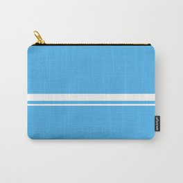 White Stripes picton blue Carry-All Pouch
