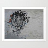Grace Kelly in pieces Art Print