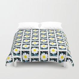 SMILE Pattern - White Daisy Flower #1 Duvet Cover