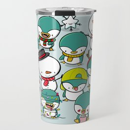 Kawaii Penguins Travel Mug