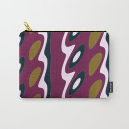 Geo Flow Rich Magenta Waves Carry-All Pouch
