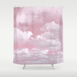 Clouds in a Pink Sky Shower Curtain