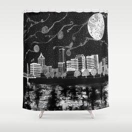 Portland Oregon Skyline Shower Curtain