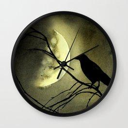 Crow Moon Wall Clock