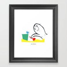 Welcome summer Framed Art Print