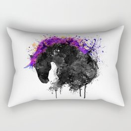 Horse Head Watercolor Silhouette Rectangular Pillow