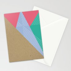 Cardboard & Combo Stripes Stationery Cards