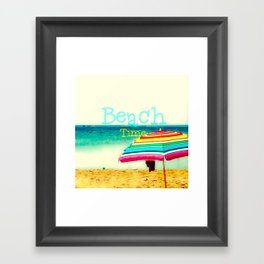 Beach time #3 Framed Art Print