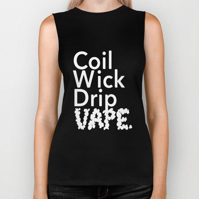 Coil Wick Drip Vape Marijuana Weed Pot Smokers husband Biker Tank