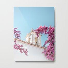 Purple and white | Alfama Lisbon Portugal fine art photography travel print Metal Print